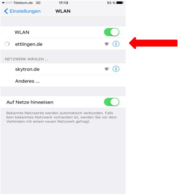 How to use free WIFI Ettlingen