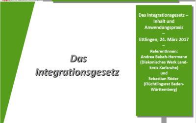 Rückblick Infoveranstaltung: Das Integrationsgesetz – Inhalt und Anwendungspraxis