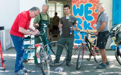 Eröffnung Fahrradwerkstatt im Jugendzentrum Specht
